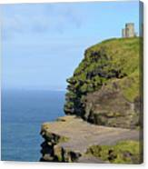O'brien's Tower Along The Cliff's Of Moher In Ireland Canvas Print