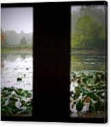 Observation Deck On A Misty Lake  Canvas Print