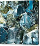 Obsidian In Newberry National Volcanic Monument, Oregon  Canvas Print