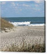 Obx Beach And Dunes Canvas Print