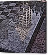 Occidental Park Checkerboard Canvas Print