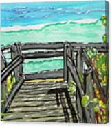 ocean / Beach crossover Canvas Print