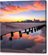 Ocean City Afterglow Canvas Print