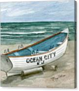 Ocean City Lifeguard Boat Canvas Print