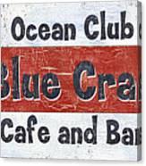 Ocean Club Cafe Canvas Print