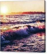 Ocean Landscape Sunrise Canvas Print