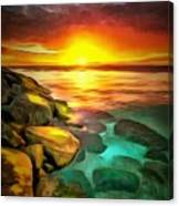Ocean Lit In Ambiance Canvas Print