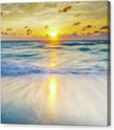 Ocean Reflections At Sunrise Canvas Print