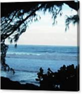 Ocean Silhouette Canvas Print