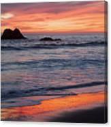 Ocean Sky Awash In Color Canvas Print