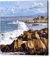 Ocean Spray In Monterey Canvas Print