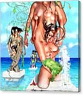 Ocean Statues Canvas Print