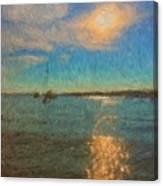 Ocean Sun Path At Boothbay Harbor Canvas Print