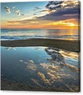 Ocean Sunrise Reflection Canvas Print