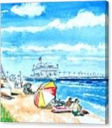 Ocean View Beach Canvas Print