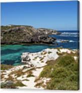Ocean Water And Rocks Canvas Print