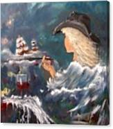 Ocean Wine Canvas Print