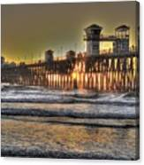 Oceanside Pier Hdr  Canvas Print