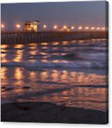 Oceanside Pier In The Mist Canvas Print