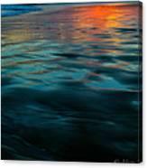 Oceanside Reflective Sunset Canvas Print