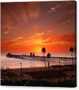 Oceanside Sunset 9 Canvas Print