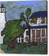 Ocracoke Island Light House Canvas Print