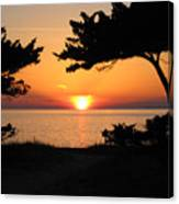 Ocracoke Island Winter Sunset Canvas Print
