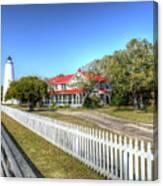 Ocracoke Lighthouse, Ocracoke Island, Nc Canvas Print