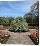 Octagon Garden At Cantigny Park Canvas Print