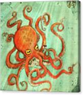Octo Tako With Surprise Canvas Print