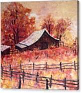 October Barn Canvas Print
