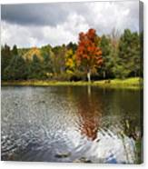 October Brisk Waterscape Canvas Print