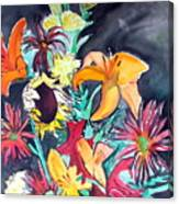 October Flowers Canvas Print
