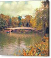 October In Central Park Canvas Print