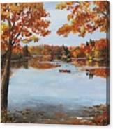 October Morn At Walden Pond Canvas Print