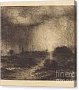 October Rain: Posuclos In The Guardarramas, Near Madrid Canvas Print