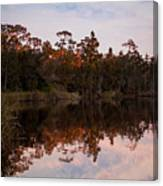October Reflections On The River Canvas Print