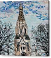 October Sky Of Leipzig Canvas Print