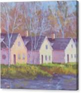 October's Light On Peanut Row Canvas Print