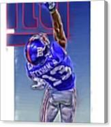 Odell Beckham Jr New York Giants Oil Art 2 Canvas Print
