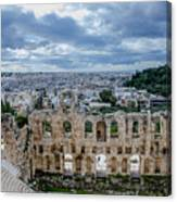 Odeon Of Herodes Atticus - Athens Greece Canvas Print