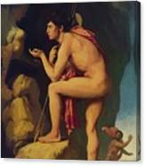 Oedipus And The Sphinx 1808 Canvas Print