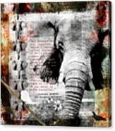 Of Elephants And Men Canvas Print