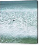 Off To Catch A Wave Canvas Print