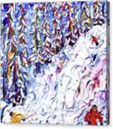 Off Piste In The Woods Above Morzine Canvas Print