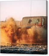 Off Road Mud Splash-1 Canvas Print