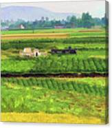 Off The Beaten Track Vietnam Viewed Through Train Window Filters  Canvas Print