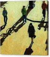 Off To Work Shadows - Painting Canvas Print
