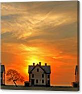 Officer's Row At Sunset Canvas Print