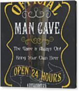 Official Man Cave Canvas Print